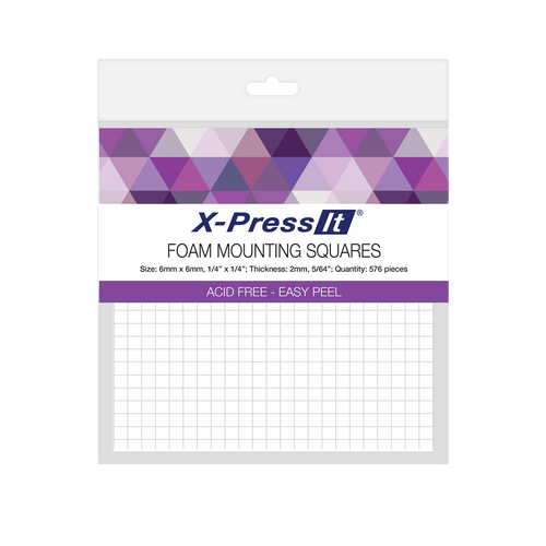 X-Press It Foam Mounting Squares - 6mm /576pcs