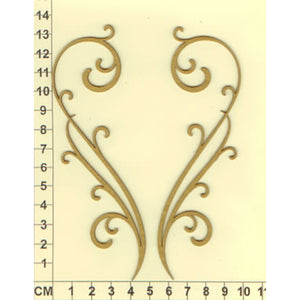 Scrapmatts Chipboard - Flourishes 10