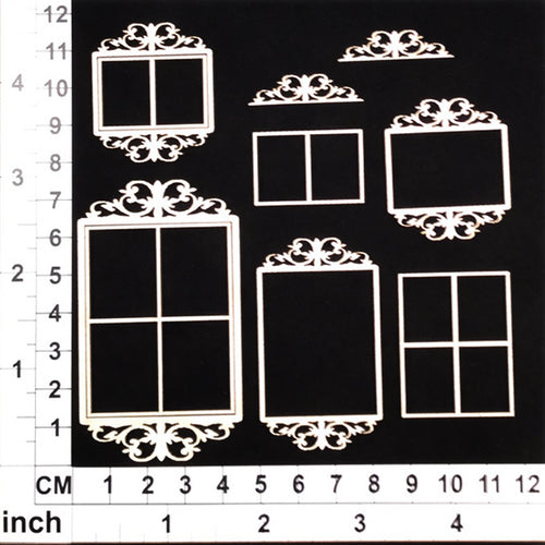 Scrapmatts Chipboard - Ornate Frames 14