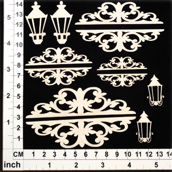 Scrapmatts Chipboard - Ornate Toppers 01