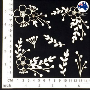 Scrapmatts Chipboard - Wildflowers 03