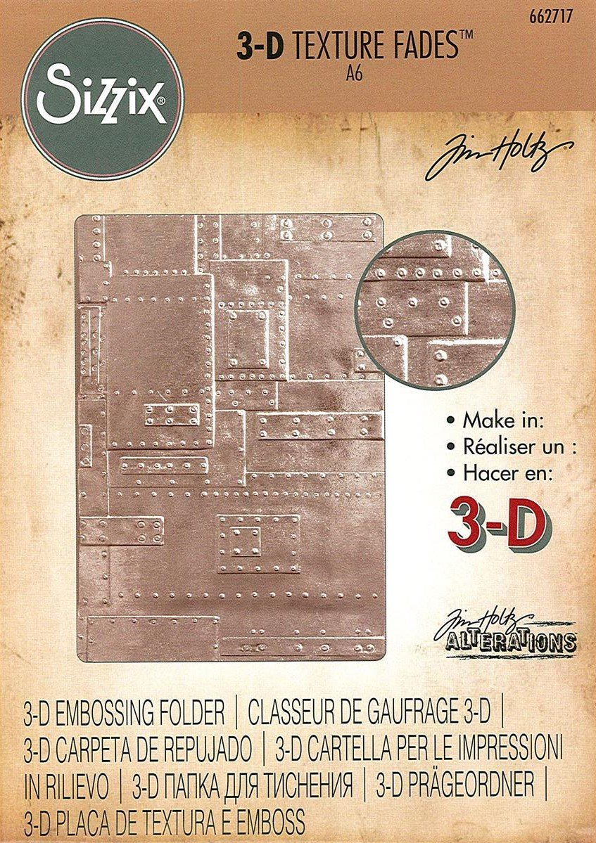 Tim Holtz Embossing Folder - Foundry 3D