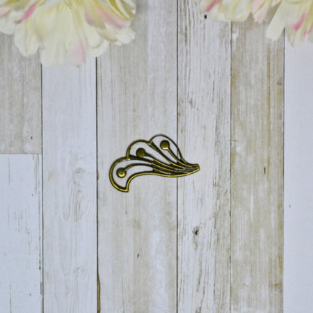 Antique Bronze 3D Metal Rose 1.4cm