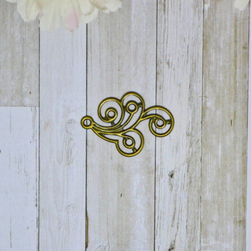 Antique Bronze Metal Small Swirl 3.1cm