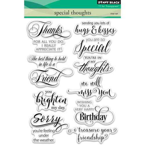 Penny Black Clear Stamps - Special Thoughts