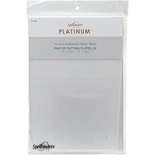 "Spellbinders Platinum Pair Of Cutting Plates 8.5""x12.25"""