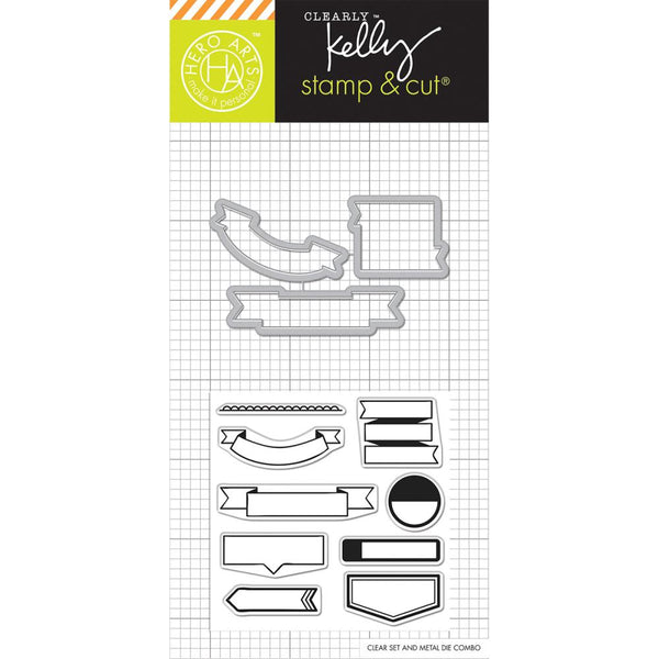 Hero Arts Kelly Purkey Stamp & Cut Flags