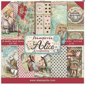 "Stamperia Paper Pack 12"" x 12"" - Alice"