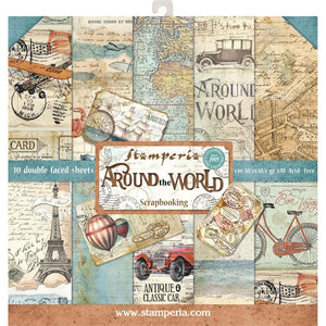 "Stamperia Paper Pack 12"" x 12"" - Around The World"