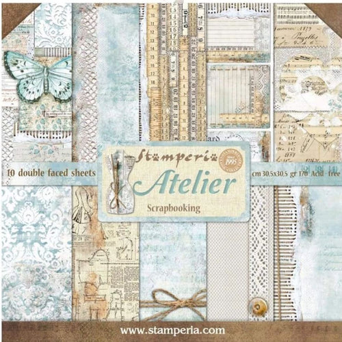 "Stamperia Paper Pack 12"" x 12"" - Atelier"