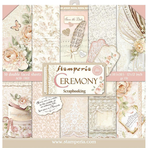 "Stamperia Paper Pack 12"" x 12"" - Ceremony"