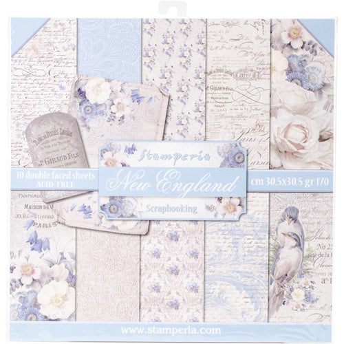 Stamperia 12x12 Paper Pack - New England