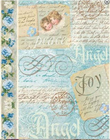 "Stamperia Paper Pack 12"" x 12"" - Blue Land"