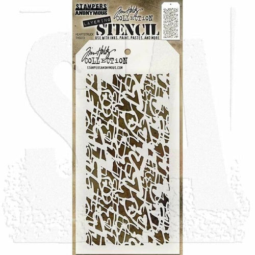 Tim Holtz Stencil - Heartstruck