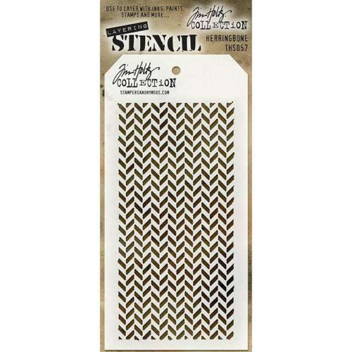 Stampers Anonymous Tim Holtz Stencil - Herringbone