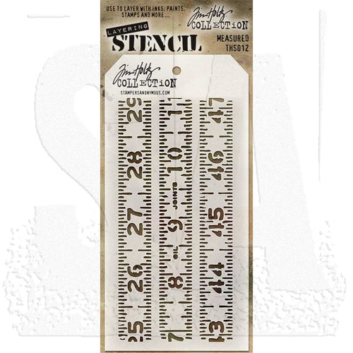 Tim Holtz Stencil - Measured