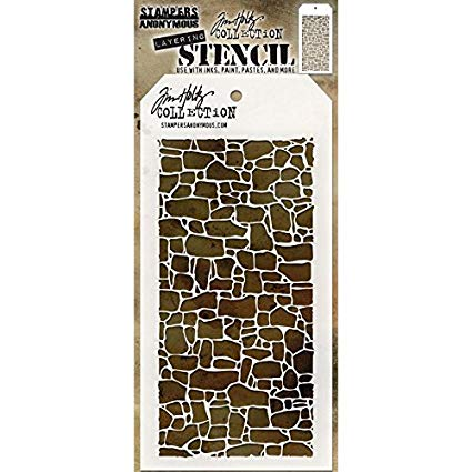 Stampers Anonymous Tim Holtz Stencil - Stone