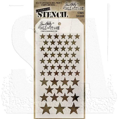 Stampers Anonymous Time Holtz Stencil - Stars