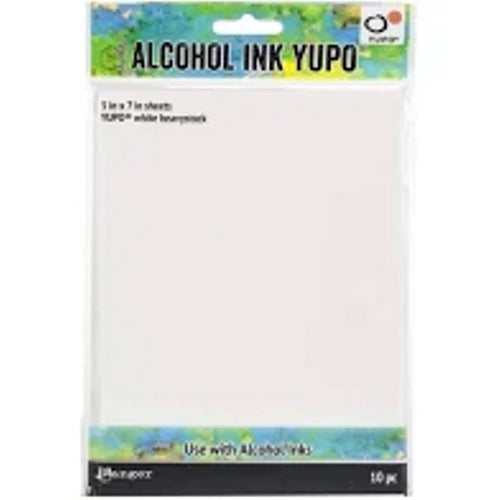 "Tim Holtz Alcohol Ink Yupo Paper 5"" x 7"" - White Heavyweight 10 pc"