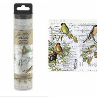Tim Holtz Collage Paper - Aviary