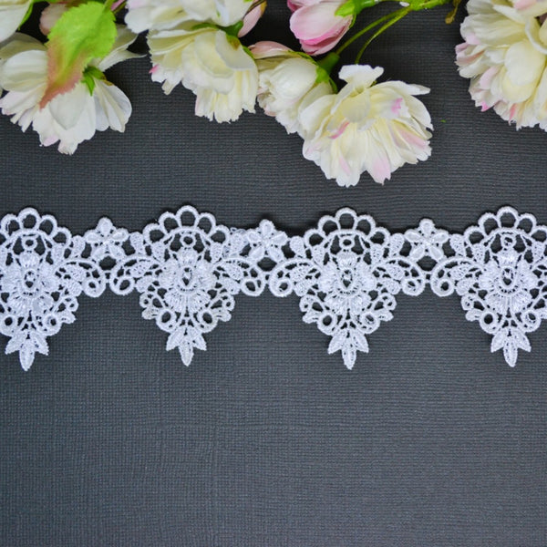 Teardrop Damask Lace 30cm