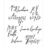 Tim Holtz Cling Stamp - Handwritten Holidays
