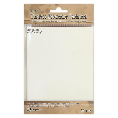 Tim Holtz Distress Watercolor Cardstock - 20 sheets