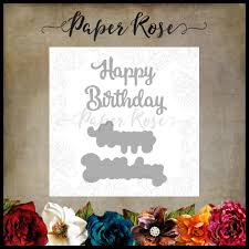 Paper Rose Die set - Happy Birthday Large Layered