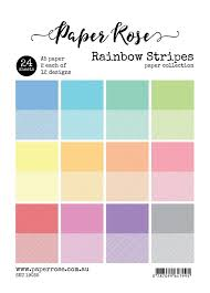 Paper Rose Paper Pack A5 - Rainbow Stripes