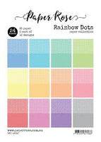 Paper Rose Paper Pack A5 - Rainbow dots