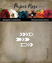 Paper Rose Die set - Chevrons Small