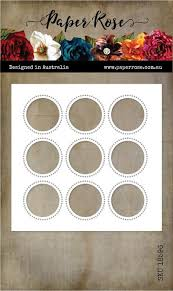 Paper Rose Die - Circle Grid Coverplate 9