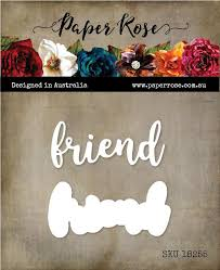 Paper Rose Die set - Friend Layered