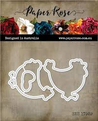 Paper Rose Die set - Hey Chick