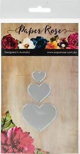 Paper Rose Die set - Hearts Small