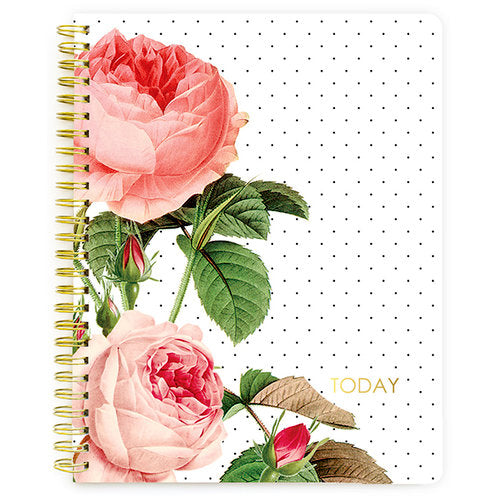 Websters Spiral Notebook - Floral Calendar