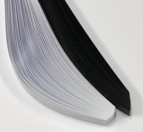 HP Quilling Strips 6mm - Black & White