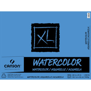"Canson Watercolor Pad - 18"" x 24"" 140lb"