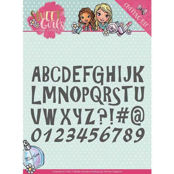 Find It Trading Yvonne Creations Sweet Girl Die - Lovely Alphabet