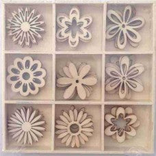 Crafts4U Wood Pieces - Floral