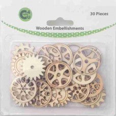 Crafts4U Wooden Embellishments - Gears