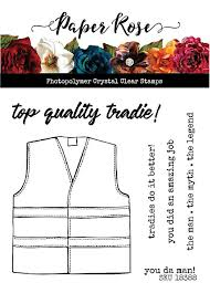 Paper Rose Stamp Set - Tradie Vest