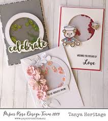 Paper Rose Stamp set - Monkey Love
