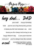 Paper Rose Stamp Set - Hey Dad