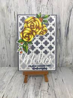 Paper Rose Stamp set - Ella's Garden Rose Bouquet