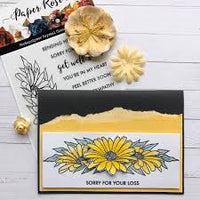 Paper Rose Stamp Set - Daisy Border