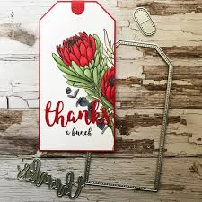Paper Rose Stamp set - Thanks a Bunch