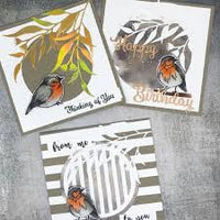Paper Rose Stamp set - Bird Day