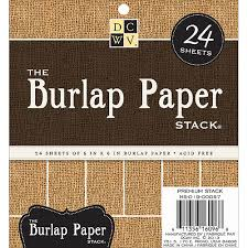 "DCWV The Burlap Paper Stack 6"" x 6"" - 24 sheets"