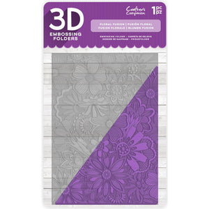 "CC Embossing Folder 5"" x 7"" 3D - Floral Fusion"